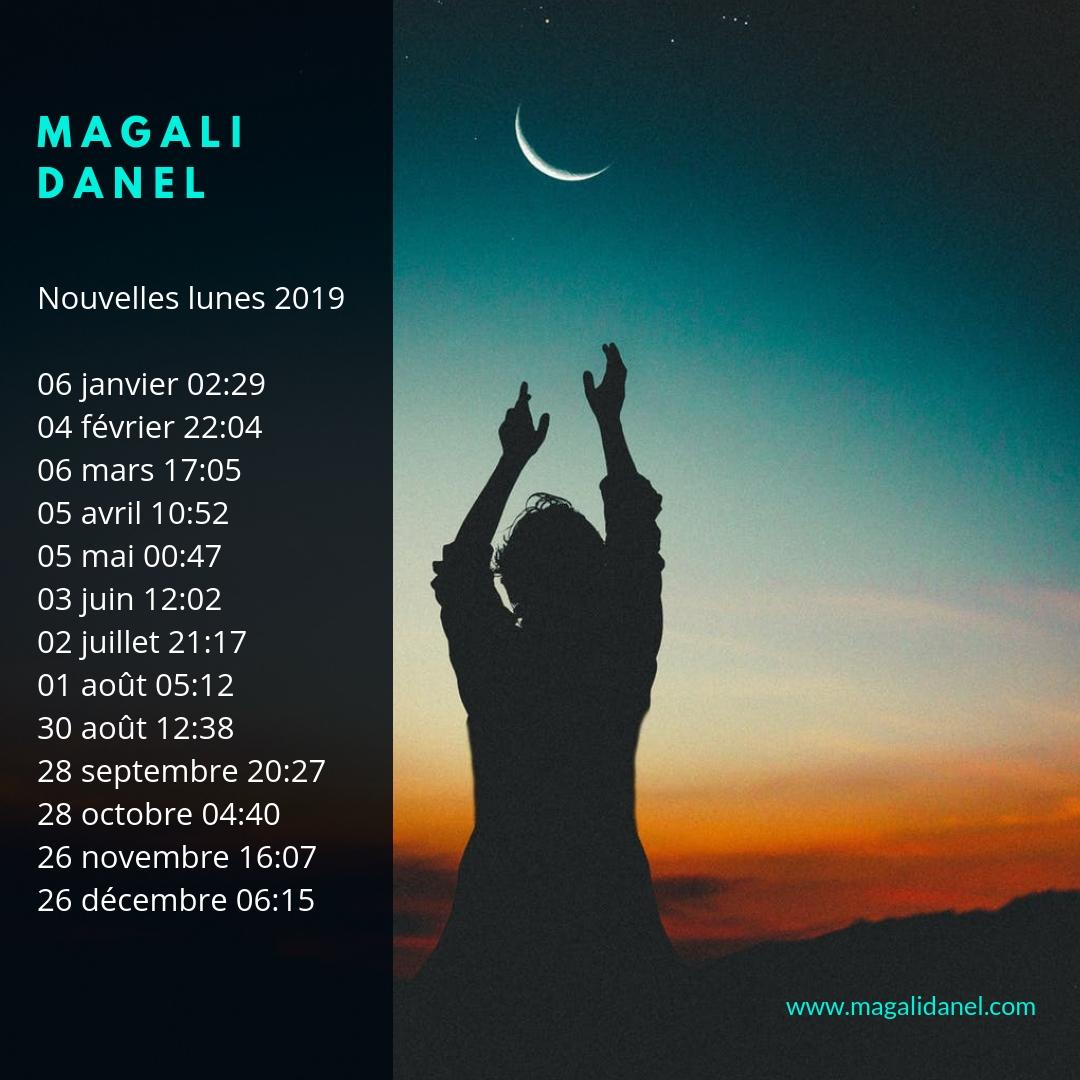 Calendrier Nouvelle Lune 2019.Outil Rituel De La Nouvelle Lune Magali Danel