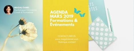 Agenda mars 2019 Magali Danel