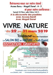 Invitation Salon Vivre Nature 2019 Magali Danel Toulouse
